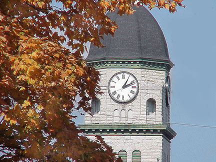 The beautiful Jasper County Courthouse in Fall- Carthage, Mo