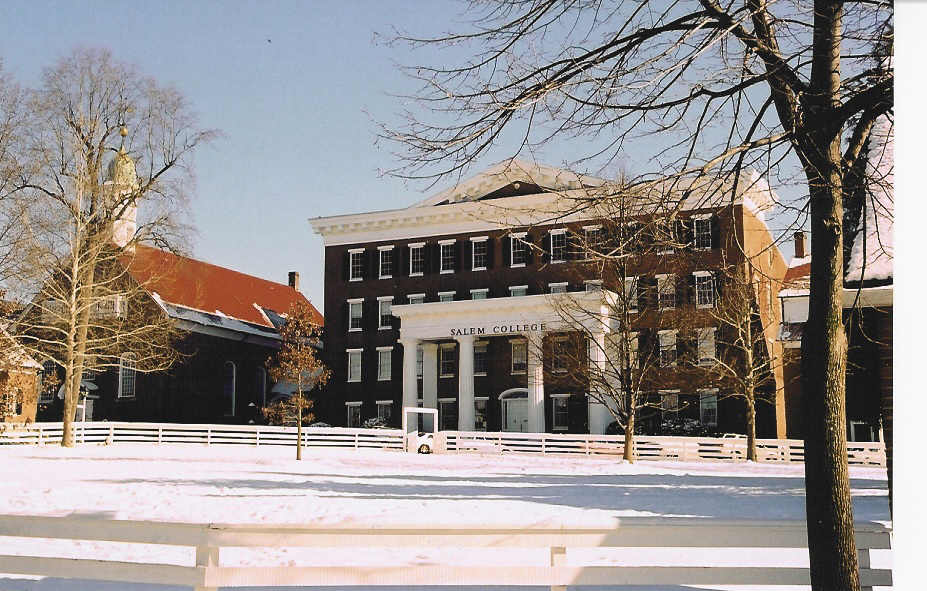 Winston Salem NC January Snowfall Salem College In Old