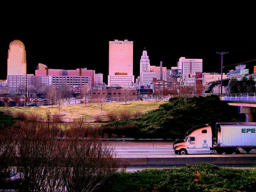 Winston Salem NC Skyline From Hwy 52 Ceds View Photo
