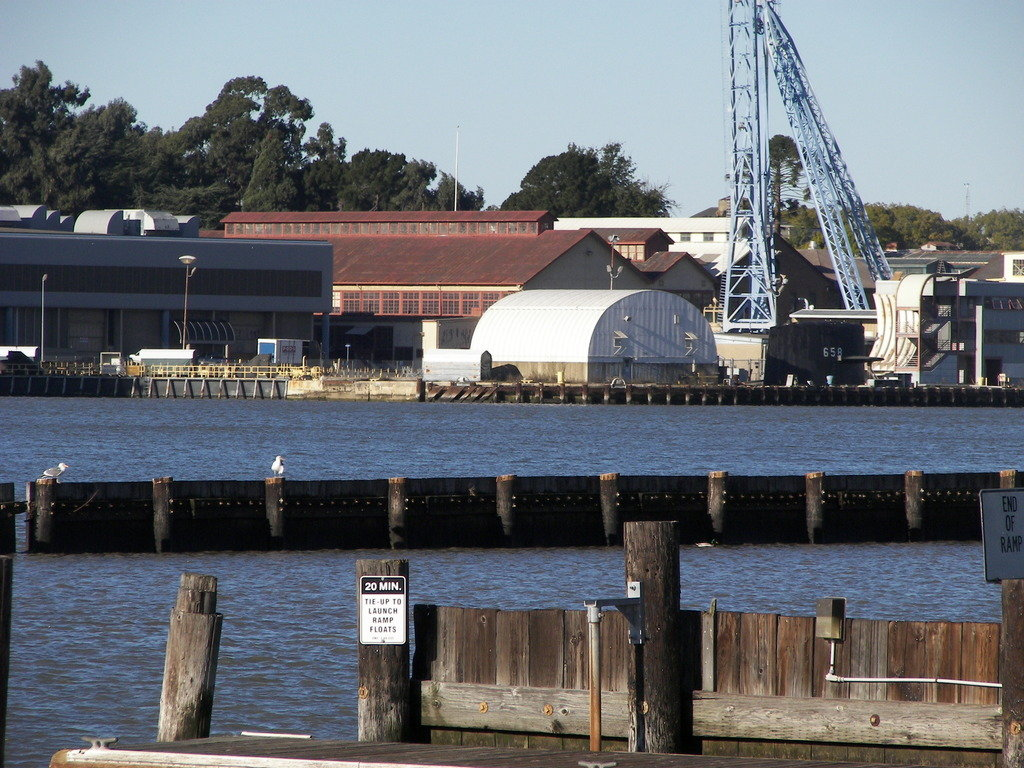 Vallejo CA  View of Mare Island from the waterfront photo picture image California at city