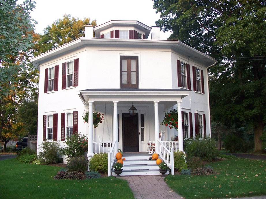 Homer NY  the octagon house in homer photo picture