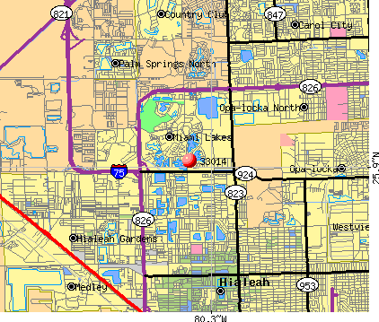 Zip Code Map Miami on
