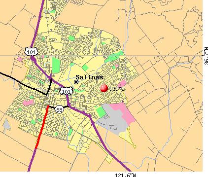 Salinas Zip Code Map  Zip Code MAP