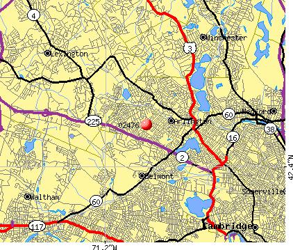 Arlington Ma Zip Code Map Zip Code Map