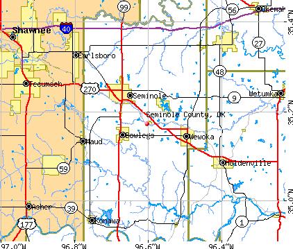 Seminole County Oklahoma Map   Time Zones Map