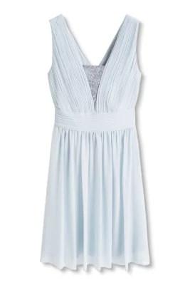 Esprit / Soepele chiffon jurk met pailletjes