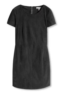 Esprit / Stretchig klänning i mockalook