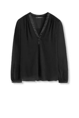 Esprit - Flowing Blouse In Crinkle Chiffon Online