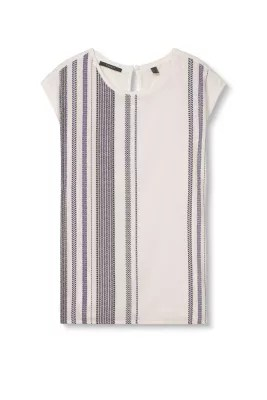 Esprit - Blouse Top In Flowing Blended Fabric
