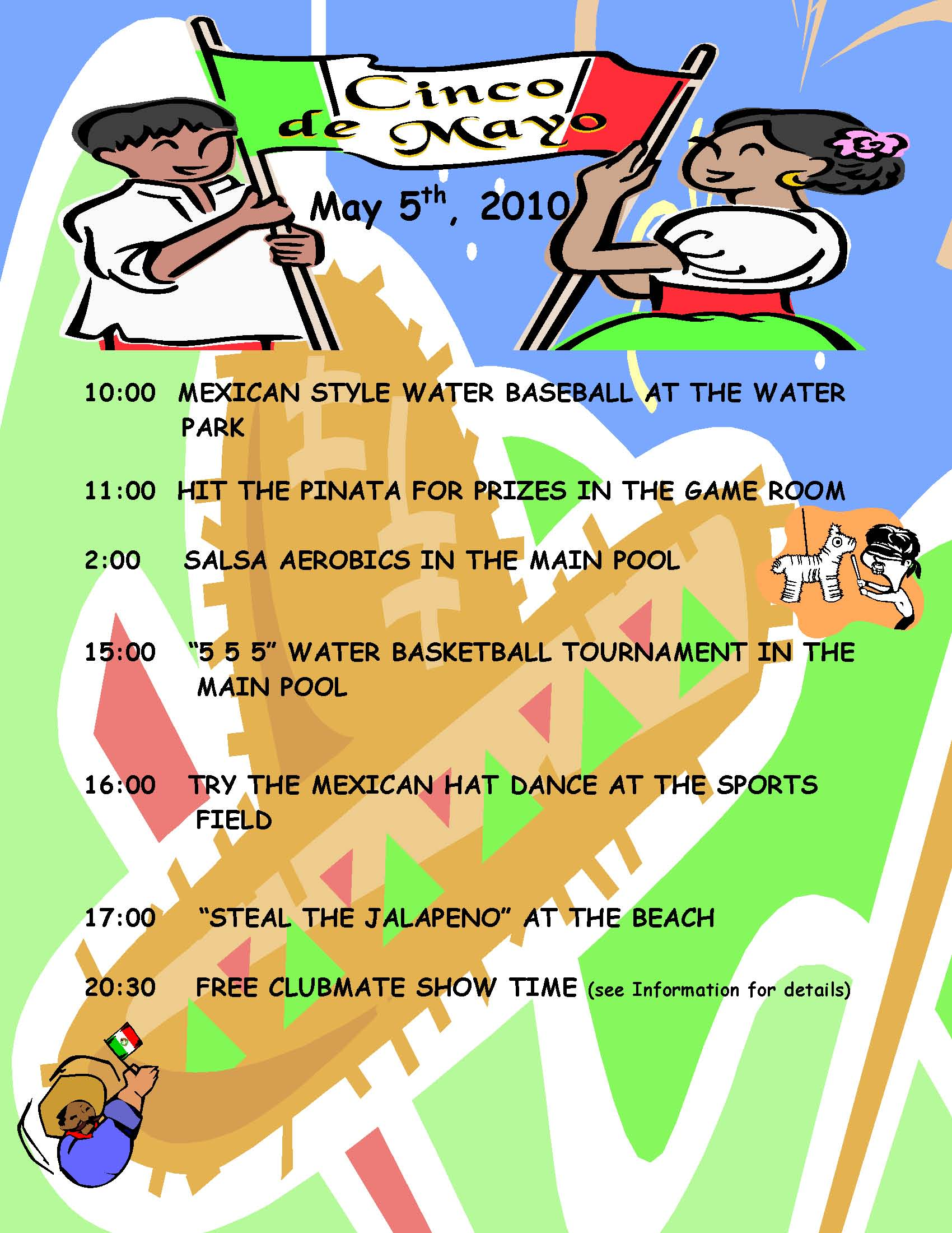 Join Our Clubmates For Cinco De Mayo Activities At Pic On May 5th
