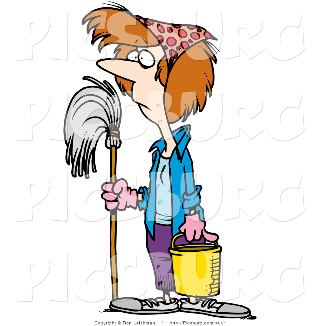 Janitors Mop And Bucket Clip Art
