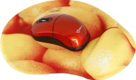 SBOX WM-206 Wireless Mouse with Mousepad Orange