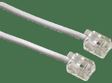 HAMA Modular Cable, 6p4c plug - 6p4c plug, 15 m, white - (00044492)