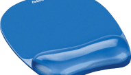 FELLOWES Crystal™ Gel Mouse Pad/Wrist Rest Blue - (91141)