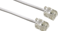 HAMA Modular Cable, 6p4c plug - 6p4c plug, 6 m, white - (00044490)