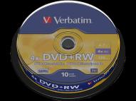 VERBATIM DVD RW Matt Silver 10 τεμ - (43488)