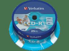 VERBATIM CD-R AZO Wide Inkjet Printable 25τεμ. - (43439)