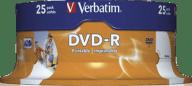 VERBATIM DVD-R Wide Inkjet Printable 25τχμ - (43538)