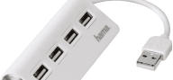 HAMA USB 2.0 Hub 1-4 Bus Powered White - (12178)