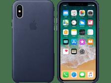 APPLE Θήκη iPhone X Leather Midnight Blue