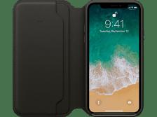 APPLE Θήκη iPhone X Leather Folio Black