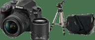 NIKON D3400 Special Kit 18-55 VR & 55-200VR II Black