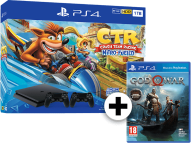 SONY SONY PS4 1TB F Chassis Black μαζί με 2o Dualshock 4, Crash team racing Nitro Fuel και God of War