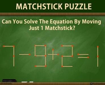 Matchstick Puzzles Riddles