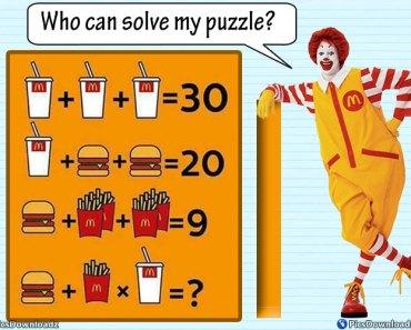 Mcdonalds Math Puzzles Image