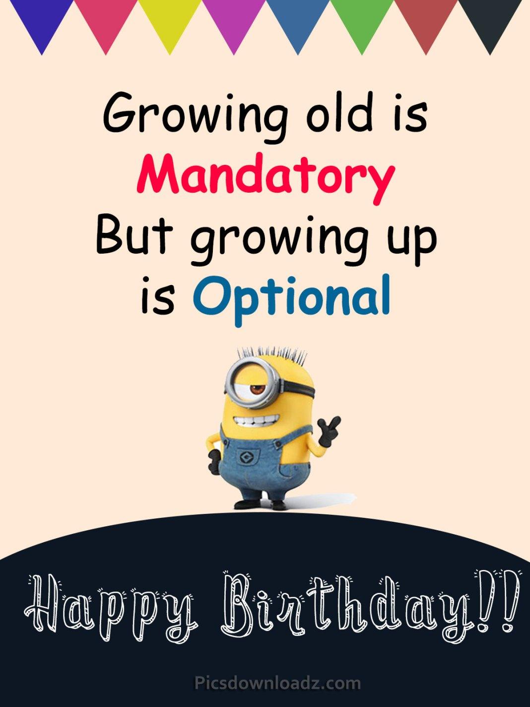Funny Minions Happy Birthday Quotes