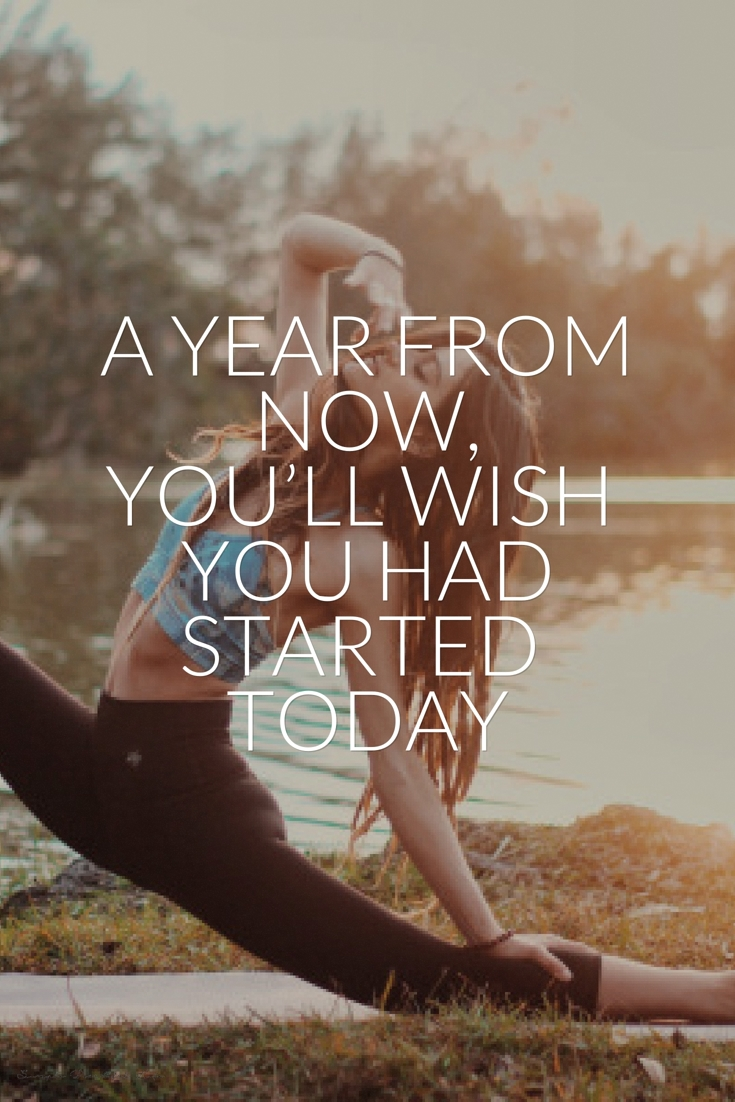 You wish you start today - Fitness Quotes