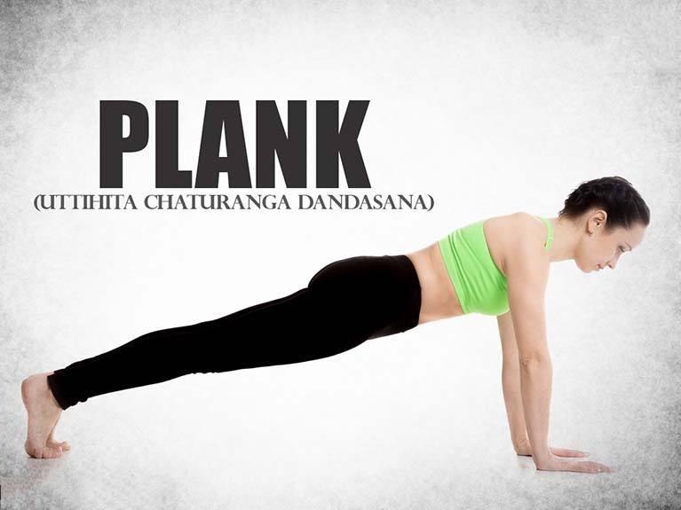 Plank-Uttihita-Chaturanga-Dandasana