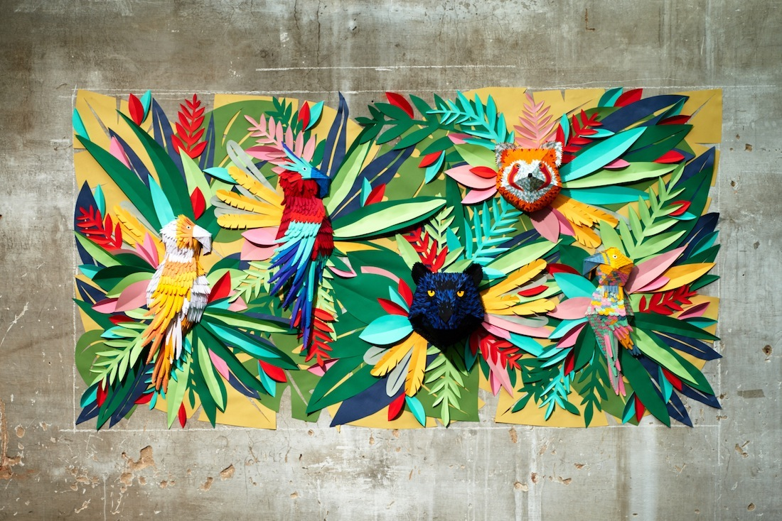 Animal Wall Murals Wallpaper Cr 233 Ations D Animaux Origamis En Papier