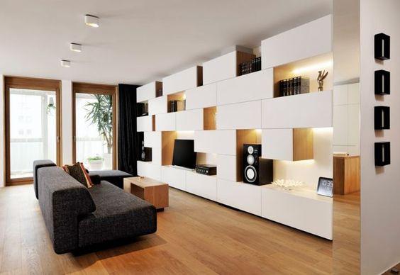 composition sur un mur complet avec des meubles besta ikea