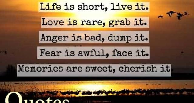 life-is-short-live-it-love-is-rare-grab-it-anger-is-bad-dump-it-fear-is-awfull-face-it-memories-are-sweet-cherish-it