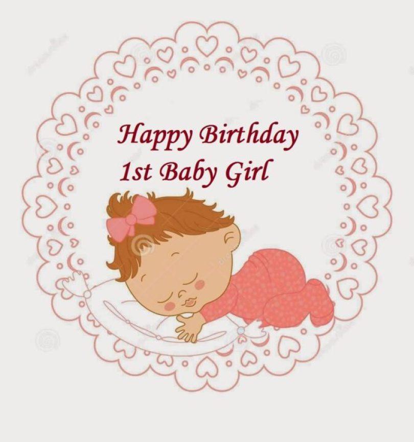 1st Happy Birthday Wishes Baby Girl