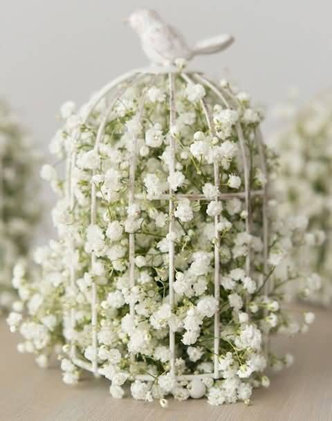 Awesome White Decorated Baby's Breath Flower For Decoration