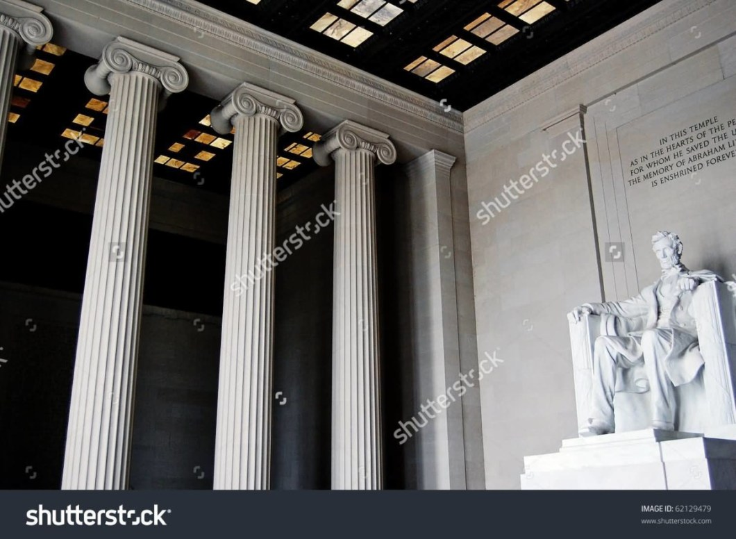 Awesome Three Columns With Statue Of Abraham Lincoln View Inside The Lincoln Memorial Best For Wallpaper