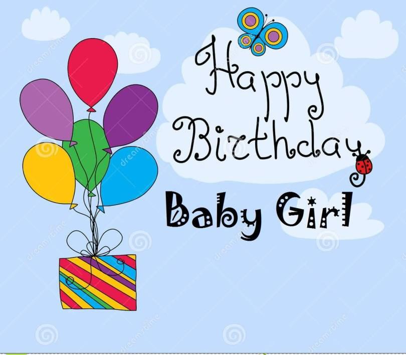 Baby Girl Birthday Card