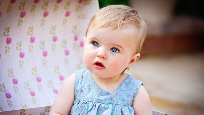 Beautiful Blue Eyes Baby Image
