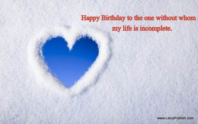Beautiful White Wallpaper Birthday Greeting To My Love