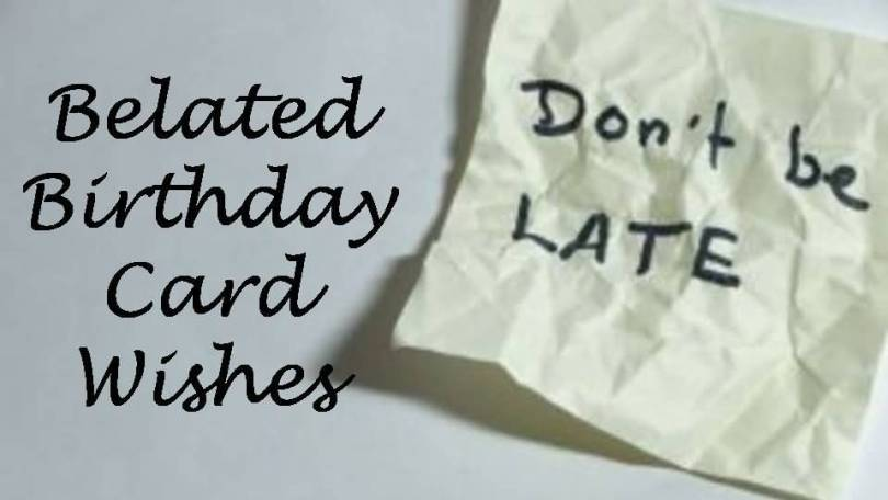 Belated Birthday Card Wishes Image