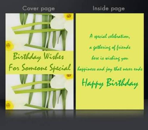 Birthday Greeting To Some One Special