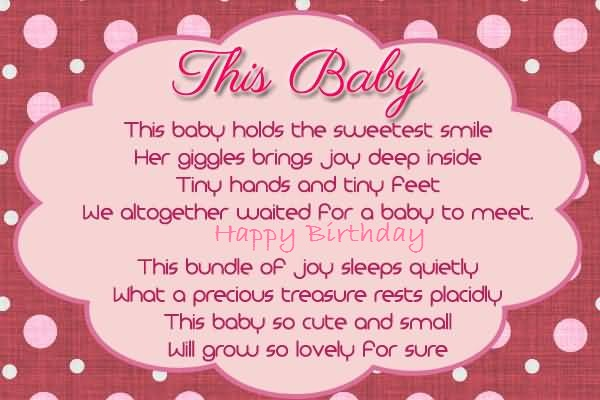 Birthday Poem For Baby Girl