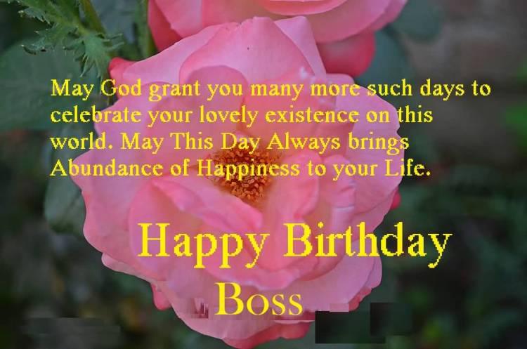 Birthday Saying For Nice Boss
