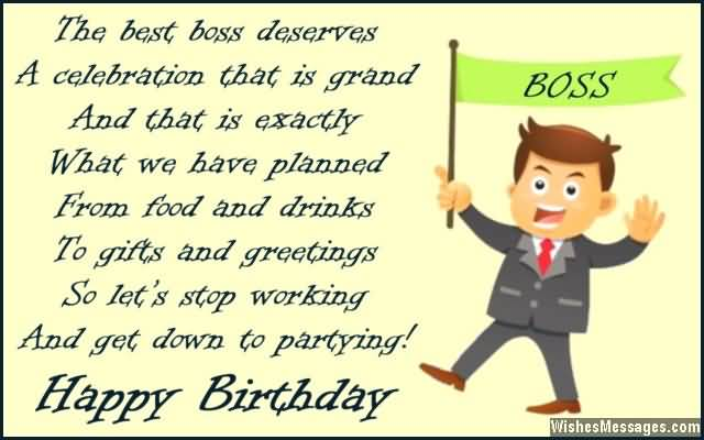 Birthday Wishes Message For Boss