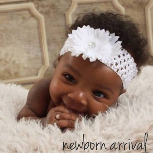 Black American Baby Girl Wallpaper