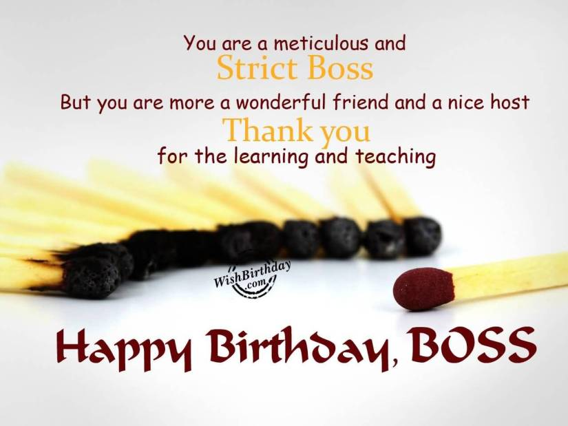 Boss Birthday Wishes Quotes Image