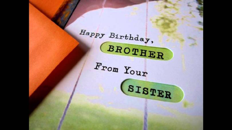 Brother Birthday Greeting Card From Sister