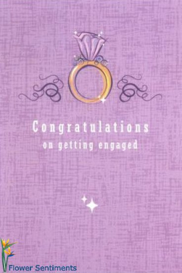 Congratulations On Getting Engaged Beautiful Card